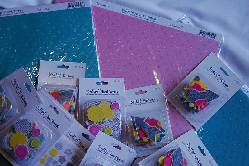 Cardstock and embellies