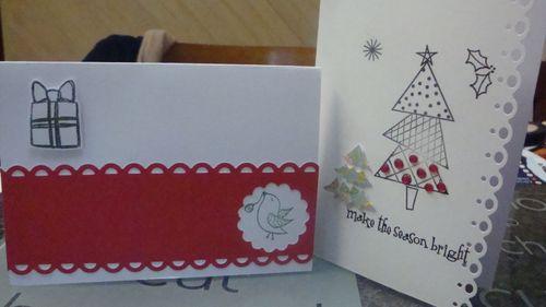 Xmas card 3 and 4