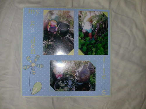 A 12 x 12 layout....using HG patterned paper