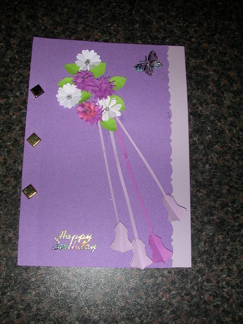 FLORAL PUNCH ART CARD