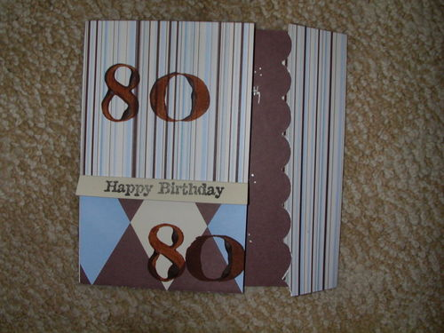 80th BIRTHDAY CARD for Dad